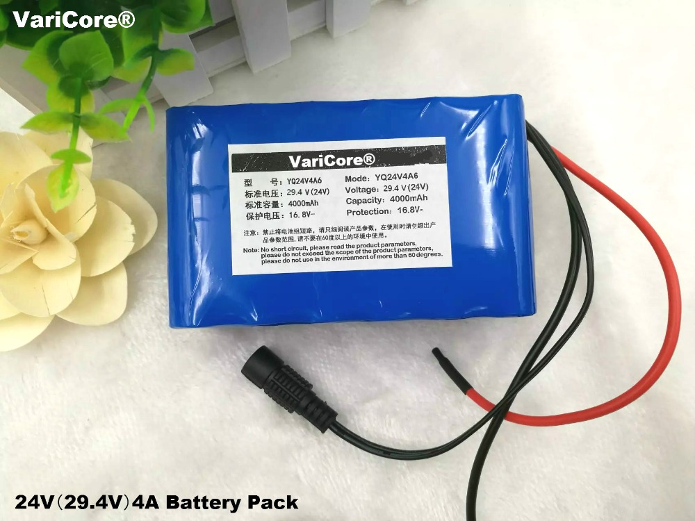 VariCore 24V 18650 4Ah 7S2P Lithium Ion Battery 29.4 V 4000 mAh Electric Bicycle Bicycle / Electric / Lithium Ion Battery 30a 3s polymer lithium battery cell charger protection board pcb 18650 li ion lithium battery charging module 12 8 16v