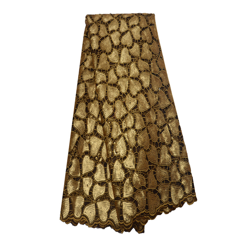 African Lace Fabric 2018 French Sequins Net Lace Gold Sequins Fabrics High Quality African Tulle Sequins Lace Fabric HJ817-2  African Lace Fabric 2018 French Sequins Net Lace Gold Sequins Fabrics High Quality African Tulle Sequins Lace Fabric HJ817-2