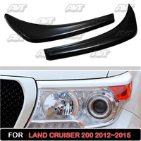 Cilia eyebrows on the headlights for Toyota Land Cruiser 200 2012 2015 car styling plastic ABS car accessories car covers tuning