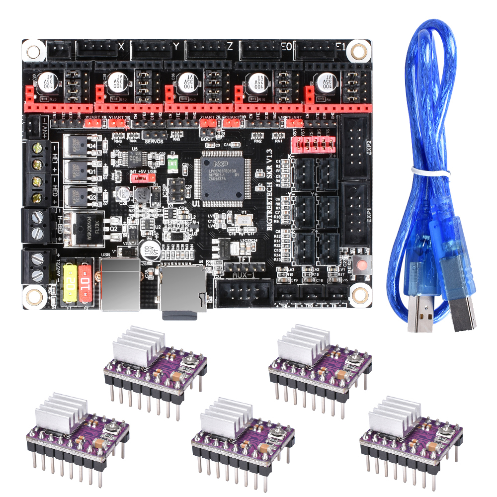 BIGTREETECH SKR V1.3 Motherboard 32-Bit ARM Smoothieboard TMC2130 TMC2208 V3.0 UART A4988 3D Printer Parts Gen L V1.4 Controller