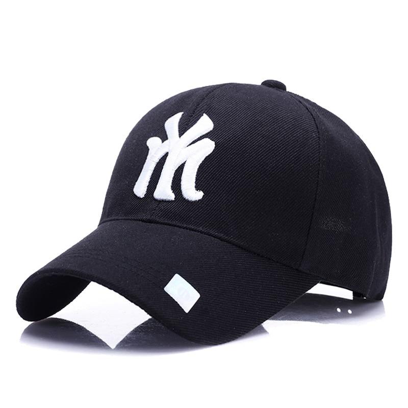 3bab7ac2c0c16 2019 2018 New Unisex 100% Cotton Outdoor Baseball Cap NY Embroidery ...