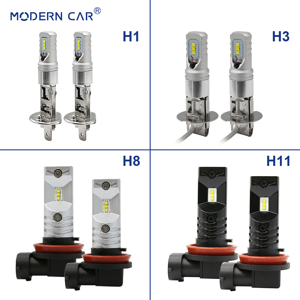 MODERN CAR H1 Led Fog Lights White CSP 6SMD Foggy Lamp For Auto 9005 9006 H3 H4 H7 H10 H11 H16 Driving Seoul Light Headlamp Bulb