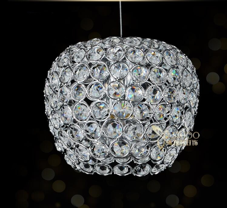 Modern chrome lustre Apple modeling LED Crystal chandelier crystal lamp E27/26 Chandelier Lighting Fixture Pendant Ceiling Lamp цена