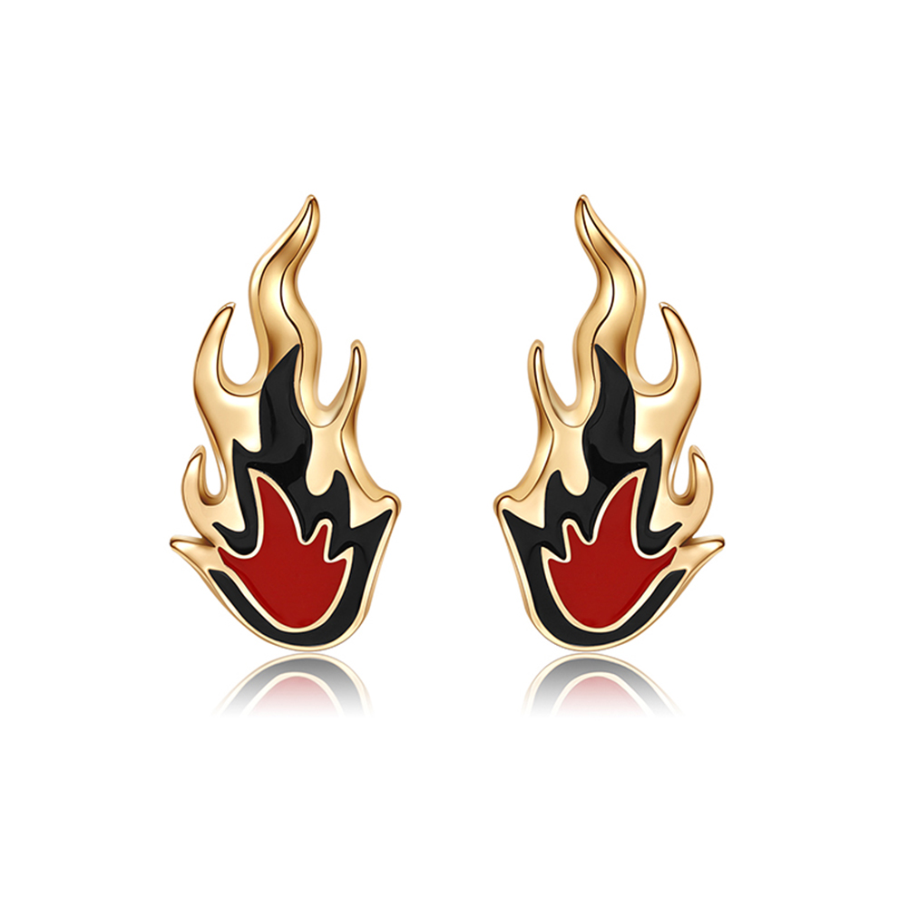 Women Lady Fashion Flame Pendant Charm Stud Earrings Wedding Jewelry orecchini Brincos aretes des boucles doreilles Ear Bijoux