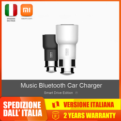 Roidmi Bluetooth Car Charger 2s , Dual USB caricabatteria da auto per dispositivi iOS e Android