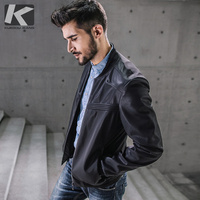 KUEGOU Men S Fur Jackets Coats Motorcycle Leather Jackets Men Autumn Spring Leather Clothing Male Casual