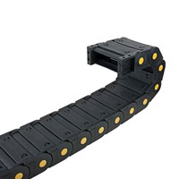 UXCELL Cable Drag Chain R55 25 x 77mm Plastic Closed Can Open Cable Drag Chain Wire Carrier 1M Long Power Transmission Chains