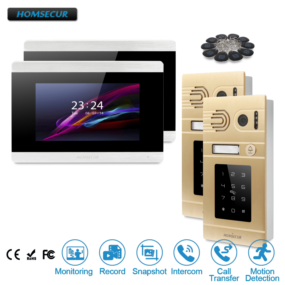 HOMSECUR 7 Hands-free Video&Audio Home Intercom+Golden Camera for Apartment  BC071-G + BM715-SHOMSECUR 7 Hands-free Video&Audio Home Intercom+Golden Camera for Apartment  BC071-G + BM715-S