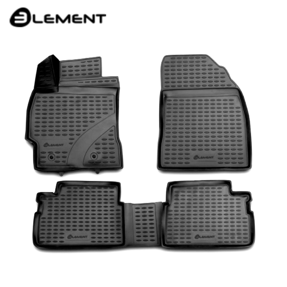 For Toyota Corolla E150 2007-2013 3D Floor mats into saloon 4 pcs/set Element NLC3D4815210k fast shipping 2pcs set led marker angel eyes kit for bmw e90 saloon e91 touring no canbus error