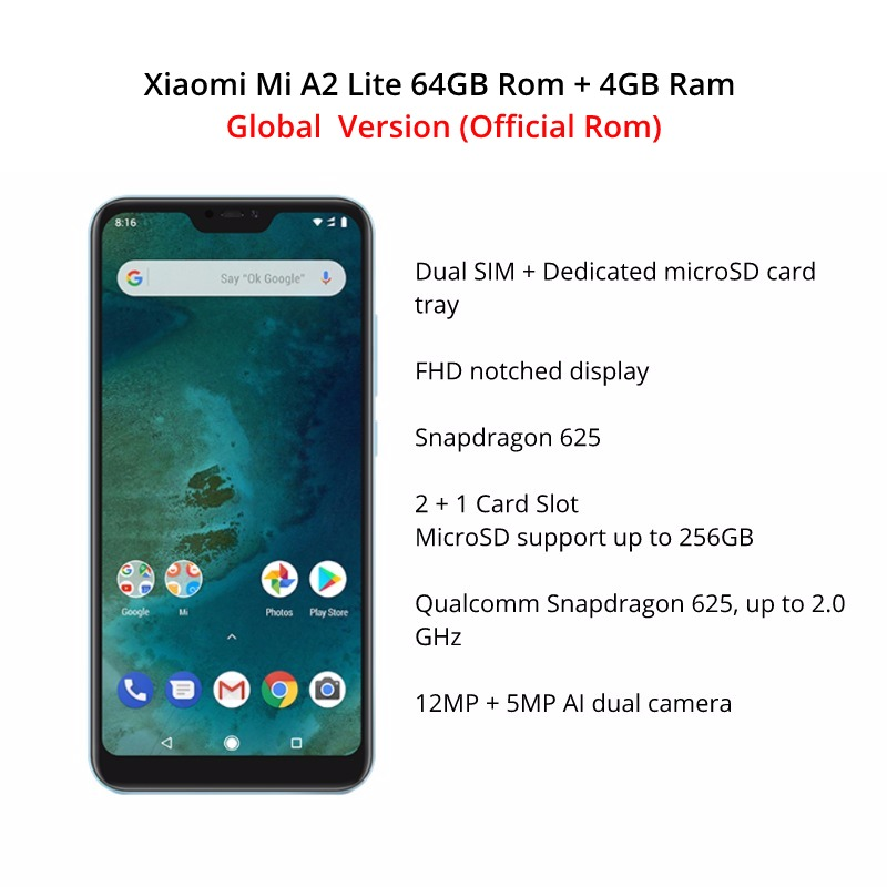 Image 4 - Global Version Xiaomi Mi A2 Lite 64GB ROM 4GB RAM (Black Color only) Official Rom-in Cellphones from Cellphones & Telecommunications