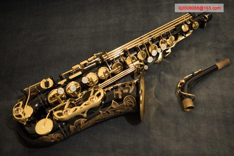 100% original YAS 82 ZIIB saxofón alto negro níquel oro 82z super Sax instrumento Musical profesional boquilla envío libre
