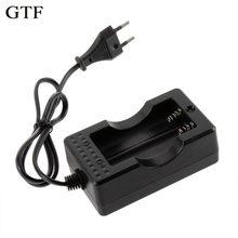 Gtf 18650 carregador de bateria de lítio 4.2 v linha de carregamento duplo 18650 duplo-slot para relatar carregador de bateria recarregável
