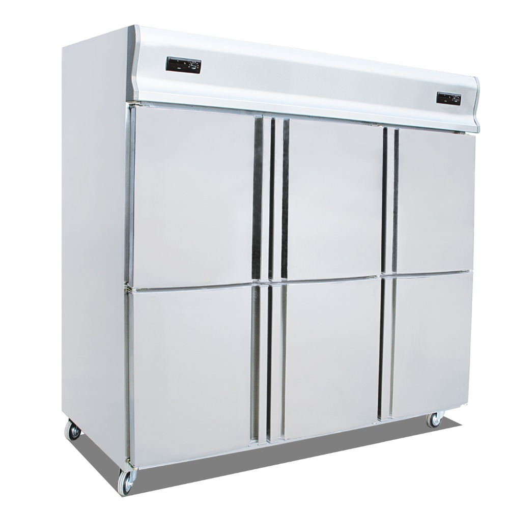 6 Door Kitchen Refrigerator Freezers Six Single Temperature Refrigeration Fridge