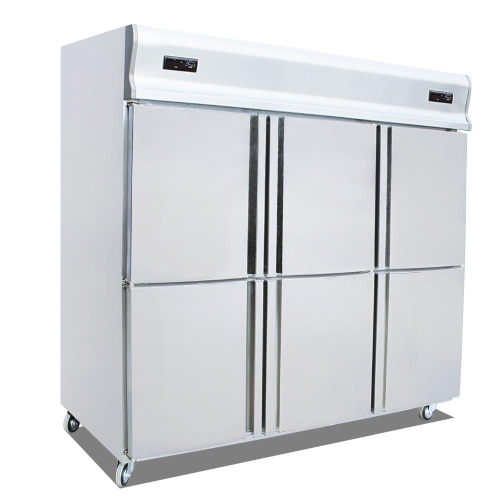 Kitchen Refrigerator Freezers Six 6 Door Single Temperature Refrigeration Fridge