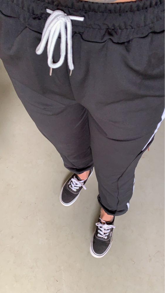 Women Jogger Pants New Arrival Spring And Autumn Black White Red Purple Green Female Pants Student Teenager Girls photo review
