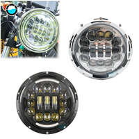 Motorcycle Accessories 7inch 90W LED Daymaker Headlight for Harley Softail Deluxe Fat boy Heritage.
