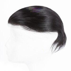 Originea شعر مستعار للرجال 6 بوصة خصلات شعر 100% ريمي شعر بشري مستعار استبدال نظام الشعر المستعار للرجال صافي قاعدة حجم 12*19 cm