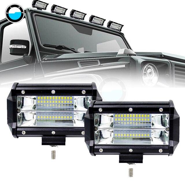 5 inch Work Light Bar 72W 12V 6000K 4300K White Fog Light Day Running Car LED Lamp Bulb for Moto Headlight.