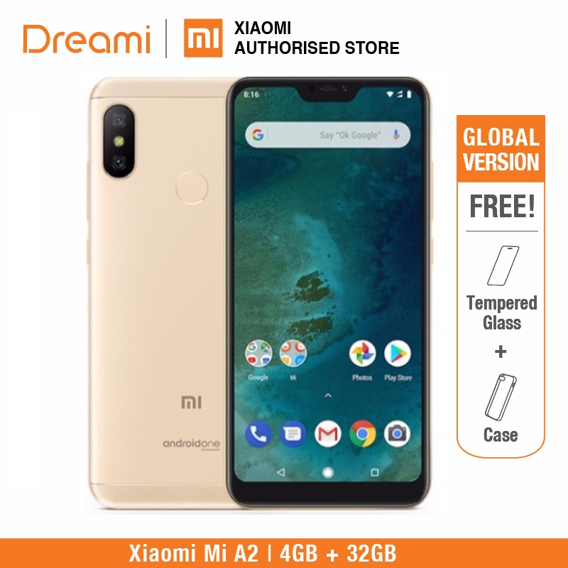 Version globale Xiao mi A2 32 GB ROM 4 GB RAM (ROM officielle) mi a2 32 gb