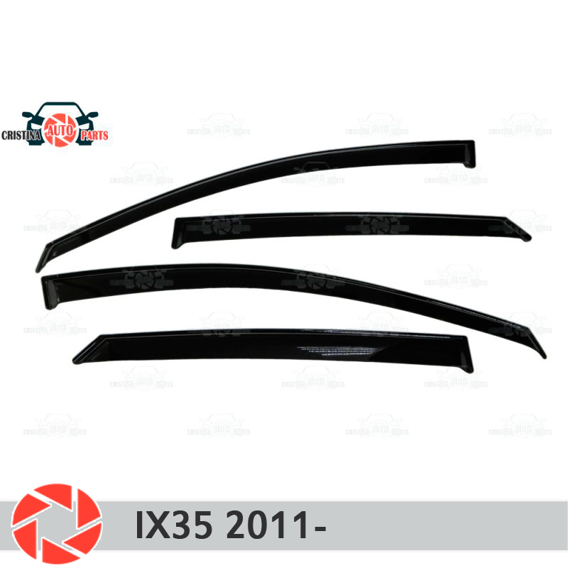 Window deflector for Hyuindai IX35 2011- rain deflector dirt protection car styling decoration accessories molding high quality car styling case for hyundai sonata 2011 12 headlights led headlight drl lens double beam hid xenon car accessories