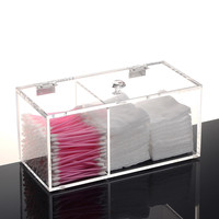 Acrylic Storage Box Cotton Swab Pads Sample Lipstick Box Nail Polish Lipstick Holder Plastic Cosmetic Makeup