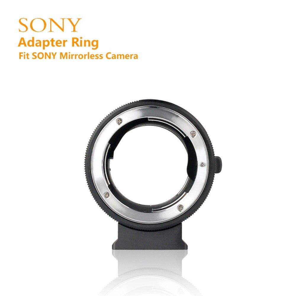 MEIKE NF-E bague d'adaptation de monture d'objectif de mise au point manuelle pour objectif Nikon F à Sony sans miroir E caméra de montage A9 A7M3 A7R3 A6500 A6400 A7R2