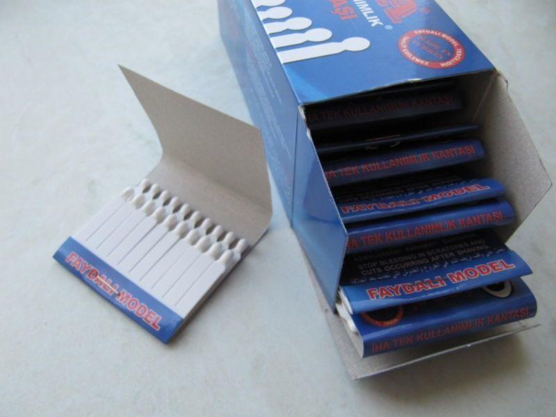 Styptic Pencils 240 Sticks Disposable Stops Cuts Bleeding 12 Matchbooks Razor