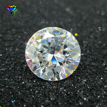 100pcs/lot 5A Quality 0.8~3.0mm Loose CZ Stone Round Brilliant Cut White Cubic Zirconia Stone Synthetic Gems For Jewelry(China)
