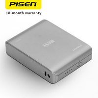 PISEN Power Bank 10000mAh Portable USB Charger LED Flashlight Powerbank 18650 Extenal Battery For Phones And