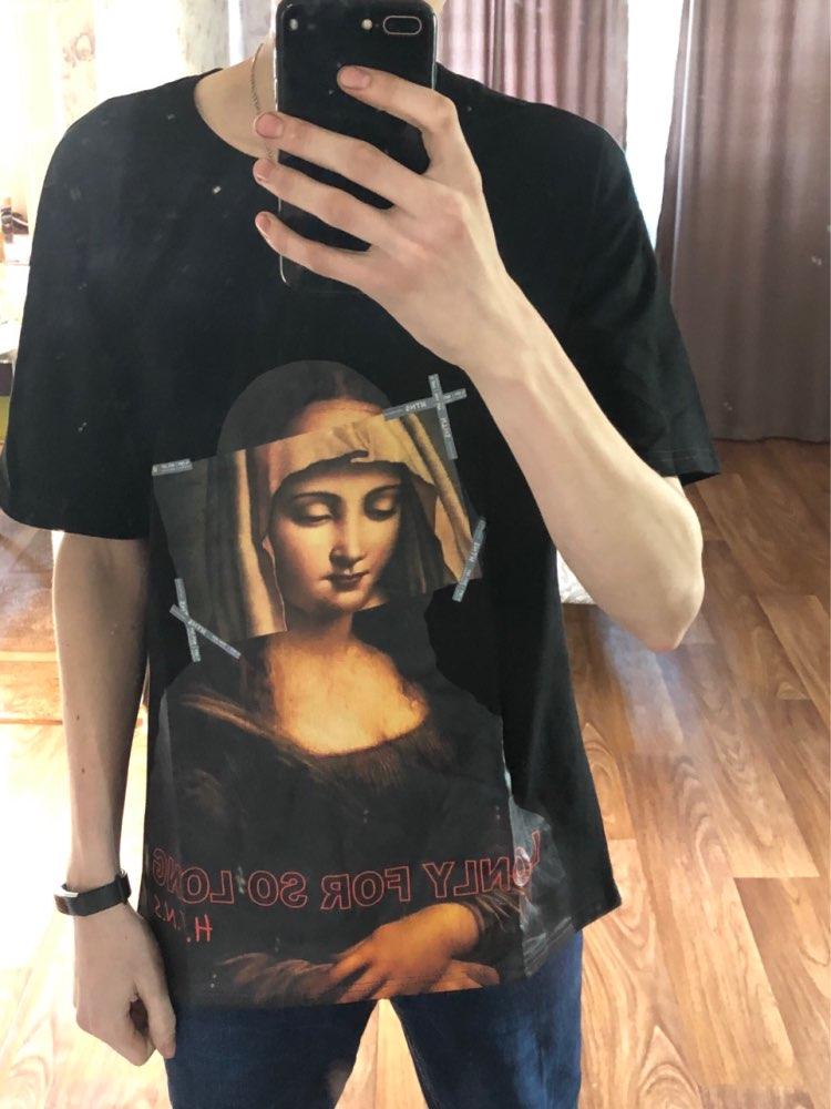 GONTHWID Virgin Mary Men's T-Shirts 2018 Funny Printed Short Sleeve Tshirts Summer Hip Hop Casual Cotton Tops Tees Streetwear