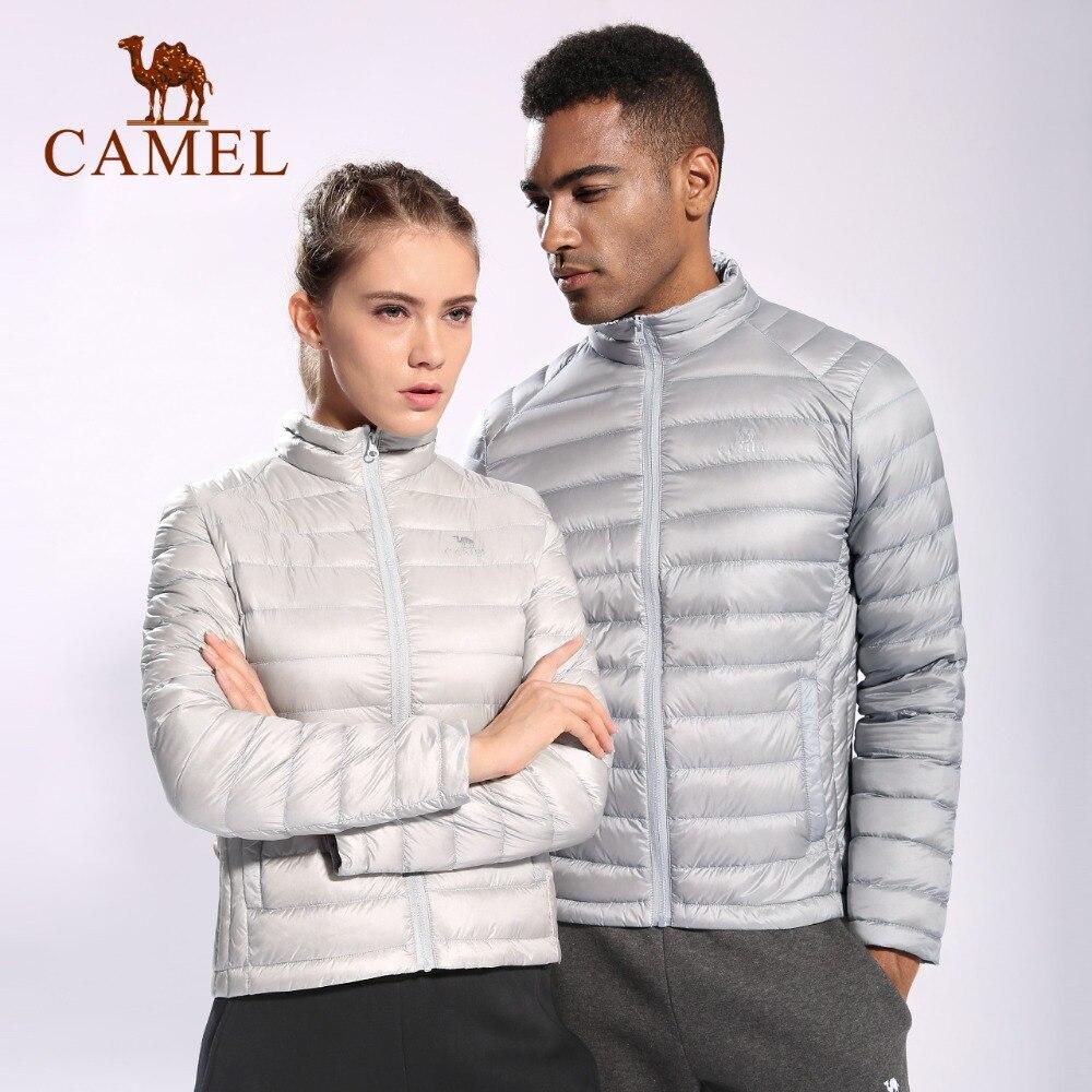 CAMEL мужской спортивный пуховик осень и зима легкий пуховик воротник Легкая теплая куртка с 90% белым утиным пухом