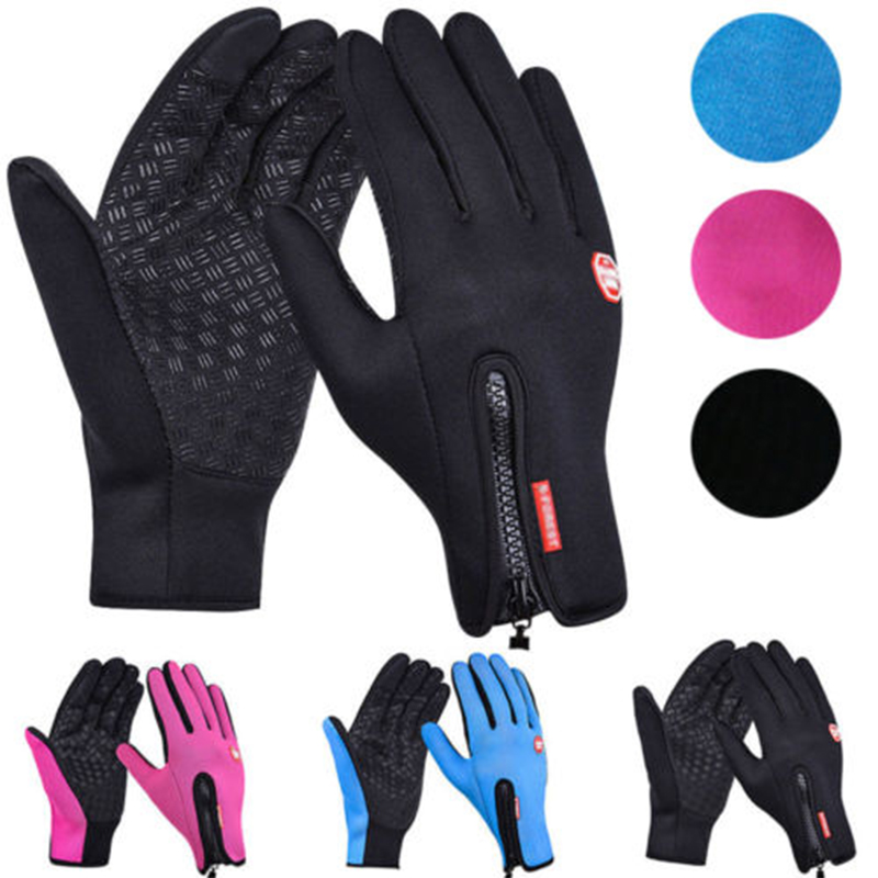 Neue Touchscreen Bike Handschuhe <font><b>Winter</b></font> Thermische Winddicht Warme Voll Finger Radfahren Handschuh Anti-slip Fahrrad Handschuhe Für Männer und Frauen image