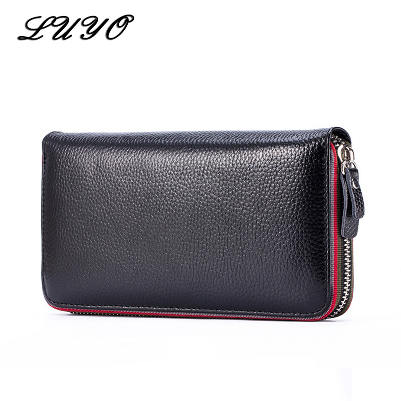 LUYO Genuine Leather Casual Wallet Female Holdings Women Carteira Feminina Card Holder Womens Wallets And Purses Pocket Handy
