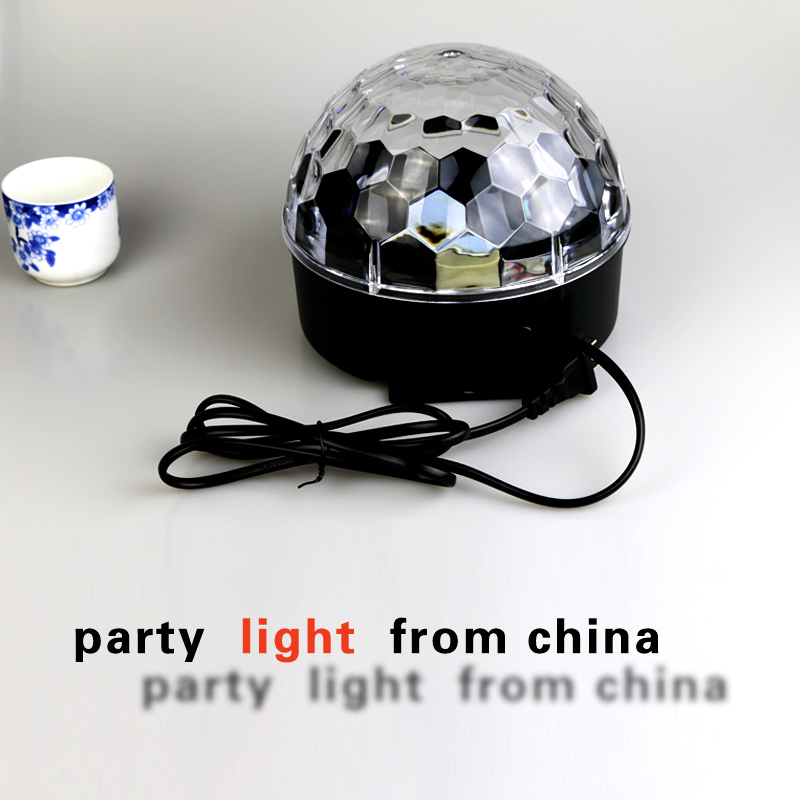 club light  Mini RGB LED Crystal Magic Ball Stage Effect  lamp Disco Party Music DJ  beam lighting  Voice  control automatic 18W стоимость