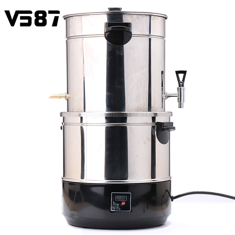 220V 1500W 12L Alcohol Distiller Multi functional Stainless Steel Wine Making Bucket Beer Brewer Kitchen Tools Accessories