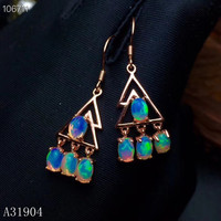 KJJEAXCMY boutique jewelry 925 sterling silver inlaid natural Opal jewel female luxury earrings support detection