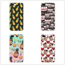 Phone Case Cute Tumblr Nutella Food pizza pineapple Hard Cover For Iphone5 11 11PRO MAX SE 5C 6 6s 6Plus Fundas