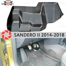 Площадку под педали газа для Renault Sandero 2014-2018 покрытие под ногами аксессуары защита украшения ковер Тюнинг автомобилей