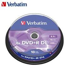 Dvd диски Verbatim 10pk шпиндель DVD+ R DL 8.5GB8x Bluray пустые CD Диски двухслойные записываемые носители компакт-диски Lotes