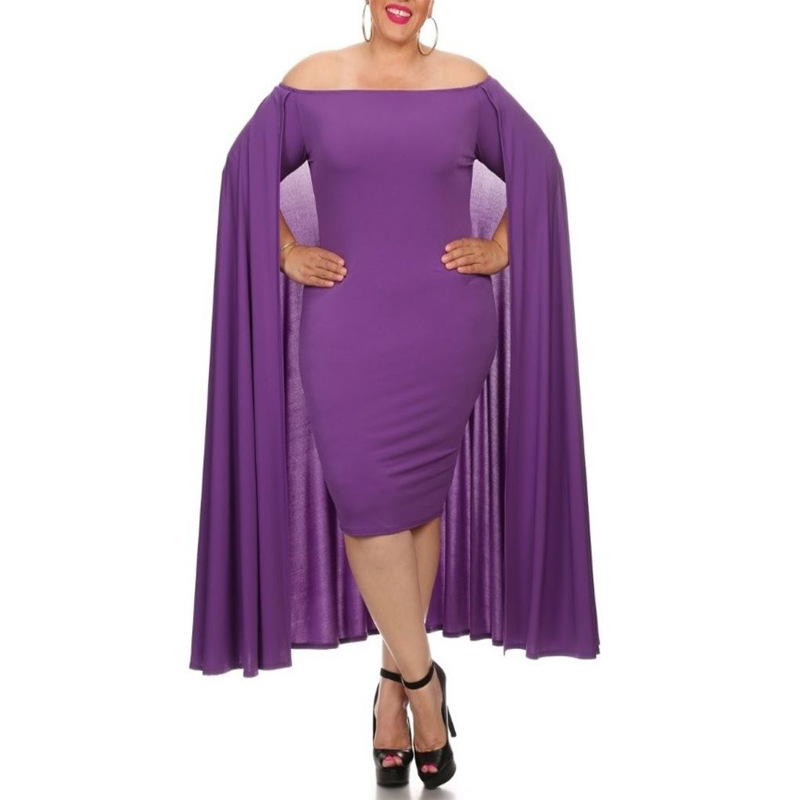 Plus Size Dress 5XL 6XL Vestidos New 2018 One word led Fashionable Queen dress Vestido Black white purple Red