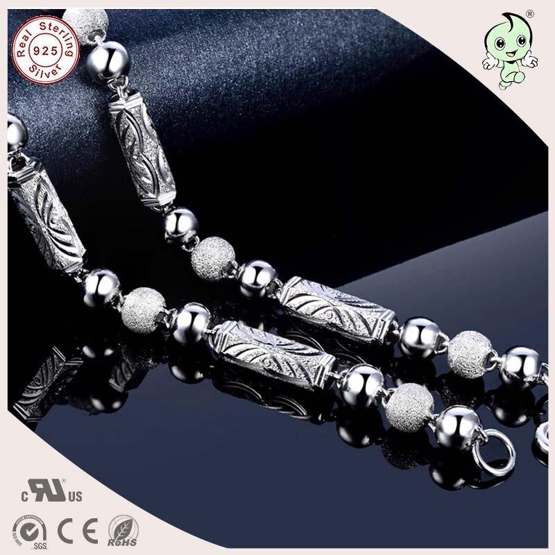 Collar de cadena gruesa de hombre gemométrica de plata esterlina S925 pesado Popular - 3