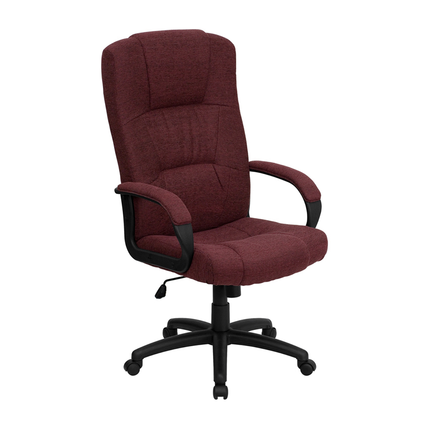 Flash Furniture High Back Burgundy Fabric Executive Office Chair [863-BT-9022-BY-GG]