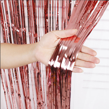 2M Rose Gold Silver Rainbow Sequin Backdrop Foil Fringe Tinsel Curtain Wedding Birthday Party Home Background DIY Decoration