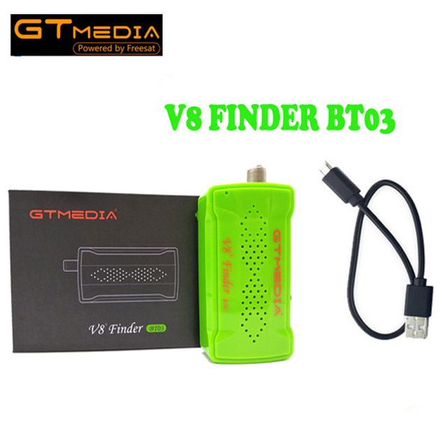 US $25 99 |GTMEDIA V8 Finder BT03 1080p satFinder vs Freesat v8 finder DVB  S2 Bluetooth control via Android I phone for hd Signal 1PCS-in Satellite TV