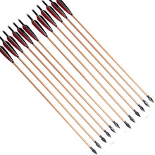 6pcs/lot Wood Arrow 80cm Shaft Hunting With Traditional Arrowhead Archery Accessories