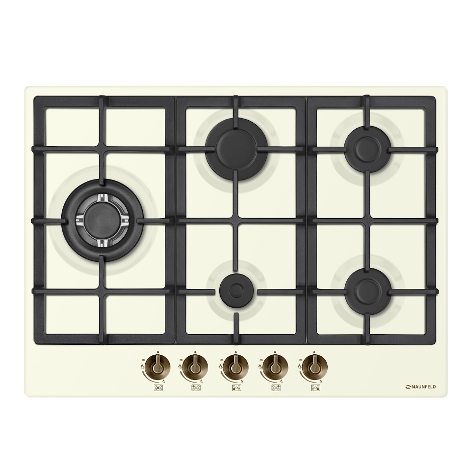Cooking panel MAUNFELD EGHE.75.33CBG1. R/G Ivory cooking panel maunfeld eghe 64 43cw g white