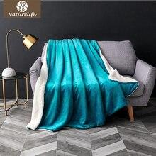 Naturelife шерпа двойной слой одеяло толстые мягкие пледы на диван кровать самолет путешествия пледы взрослых домашний текстиль Cobe