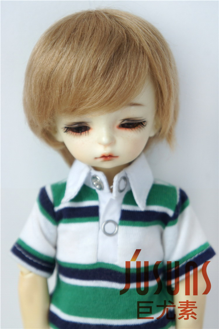 JD293 1/8 1/6 Мода из мягкого мохера BJD парики Милая Короткая раскроенная кукла волосы Размер 5-6 дюймов 6-7 дюймов кукла аксессуары - Цвет: 6-7inch Ash Blond M4