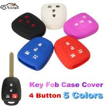 4 Button Silicone Smart Remote Key Case Protector Fob Cover Case For Toyota Camry Avalon Corolla