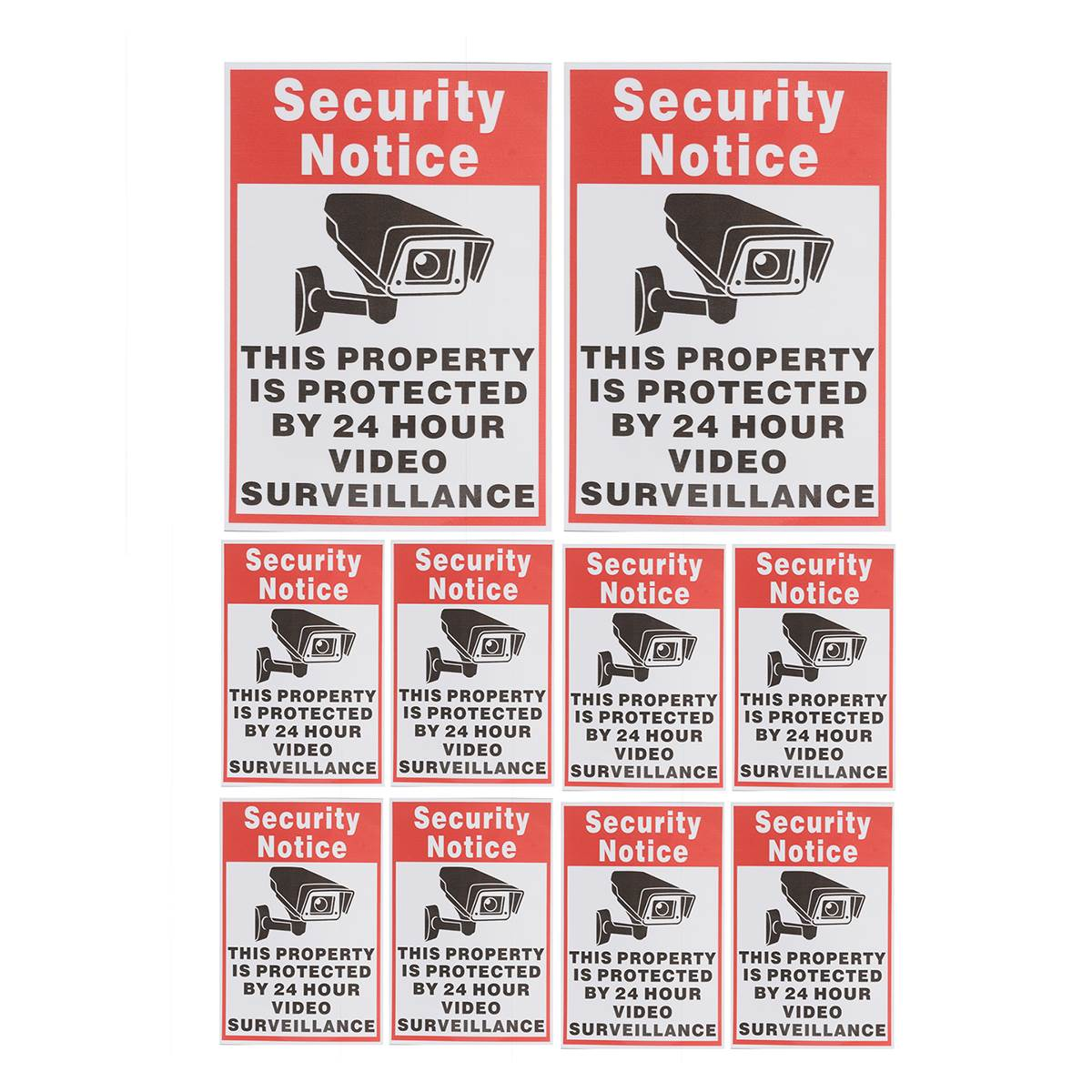 NEW Safurance 10pcs/lot Waterproof Sunscreen PVC Home CCTV Video Surveillance Security Camera Alarm Sticker Warning Decal Signs new safurance 10pcs lot waterproof sunscreen pvc home cctv video surveillance security camera alarm sticker warning decal signs